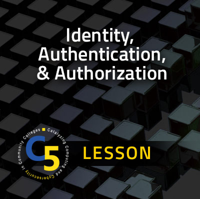 Curriculum Lesson: Identity Authentication, and Authorization Lesson
